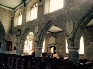 Another view of the Gothic interior of St Peter's Parish church in Stourton