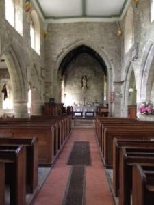 Interior of St Peter's parish church of Stourton on the Stourhead House Estate