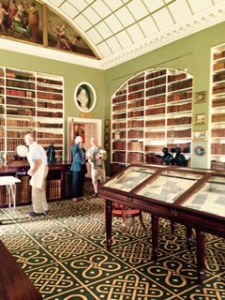 Stourhead House library with Wilton carpet made by the Wiltons of Wilton House fame!