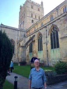 Tewksbury Abbey exterior ...