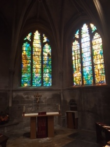 Vibrant new stained glass in Tewksbury Abbey