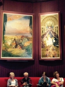 Waddesdon two of the Bakst Sleeping Beauty paintings