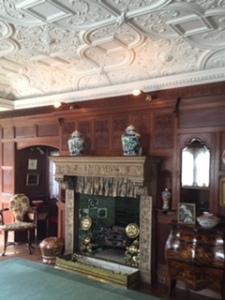 Wightwick Manor parlour fireplace