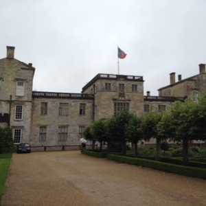 Wilton House, the Pemberley Estate with flag flying from the front