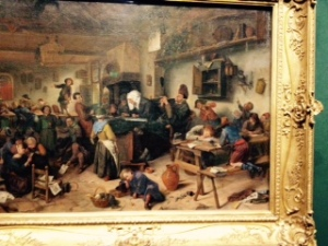 Jan Steen 1670: A School for Boys and Girls! I hope my classes in term 4 do not look like this!