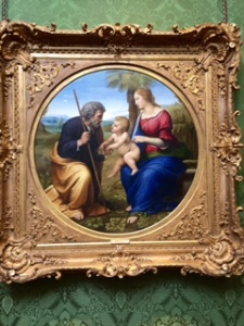 Raphael: The Holy Family..interesting to me because Joseph is hardly ever seen in art. On loan from the Bridgewater collection