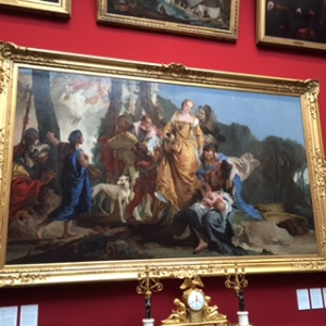 Tiepolo: The Finding of Moses, almost humorous in his use of contemporary comic faces known to some.