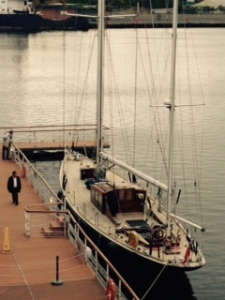 The racing yacht which won many races with the Duke and Charles at the helm at various times