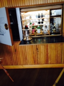 The bar in the Royals' sunroom...some good stuff here!