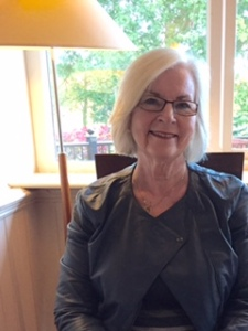 Ann enjoying brekky at the Harrowgate Premier Inn