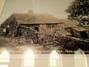 early photo of Withens Hut the place on which Emily Bronte based Heathcliff's adopted home in Withering Heights. It is just as I imagined in when I first read the novel
