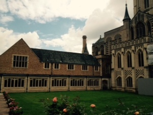 Bury St Edmunds Cathedral new extensions including choir school, treasury, tea shop, even cloisters