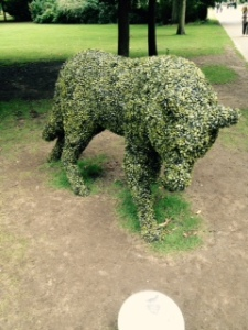 clever topiary in Bury St Edmunds park