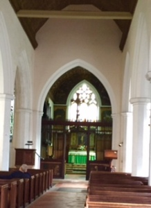 Ancient St Botolph's interior. A church has stood on this site since the C12th