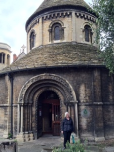 The Round Church in Cambridge based on the Church of the Holy Sepulchre in Jerusalem