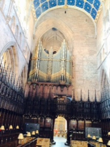 Carlisle Cathedral organ and choir stalls