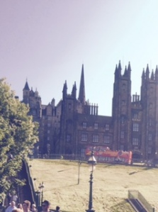 Neo-Gothic buildings of Edinburgh University