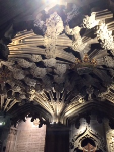 Ancient Gothic ceiling bosses in vestry room of St Giles cathedral
