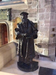 Statue of Reformer John Knox in St Giles Cathedral Edinburgh