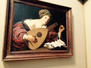 Hendrik ter Brugghen : Woman with lute