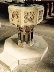 Harewood church font