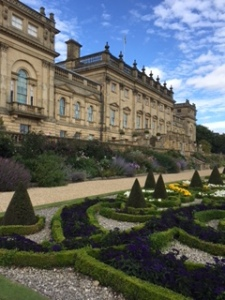 Harewood in York; the exterior of the South Face and formal terraced gardens.