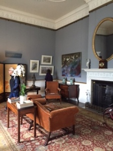 Sitting room used currently by the young Earl and his family