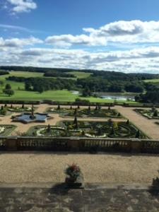 Harewood terraced garden