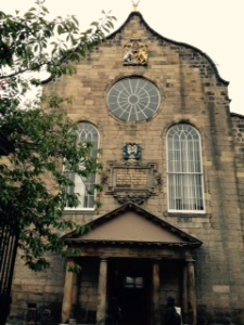 Canongate Kirk, the Kirk of Holyrioodhouse. Built by King David 1 in 1690 after King James VII vacated the Scottish throne. Charles the 1 was crowned King of Scotland there. At the Reformation in 1560 the church became known as the Kirk of Holyrioodhouse.