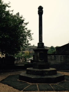 Ancient C14th cross next to Canongate Kirk
