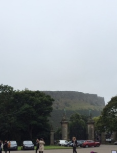 Holyrood mountain above the palace