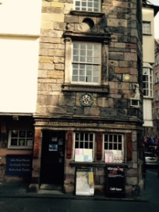 One of two of Edinburgh's oldest houses ..this one possibly lived in by John Knox