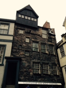 The second of two very ancient houses in Edinburgh on the Royal Mile