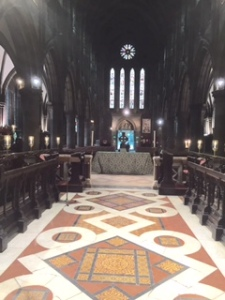 Holyrood St Marys nave to sanctuary