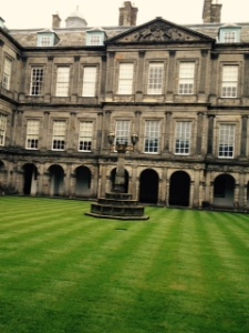 Internal courtyard of Holyroodhouse...pretty dull really!