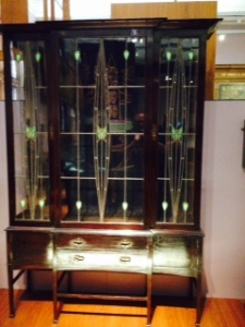 Currently there is a display of the architect and cabinet maker Charles Rennie Mackintosh. This is a stunning cabinet