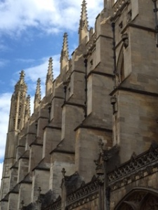 Easily recognised construction of Kings College Chapel in Cambridge