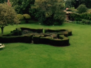 garden and fountain at Melford Hall