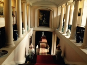 Main staircase at Melford Hall