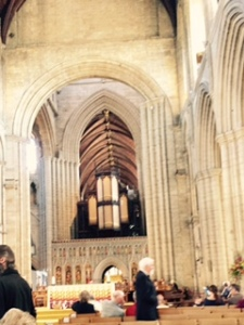Ripon Cathedral nave at the end of the 10.30am eucharist service