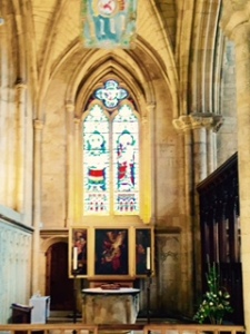 The second more traditional side chapel but also with some modernising features