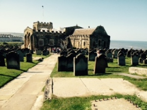 St Mary's church Whitby from the Abbey
