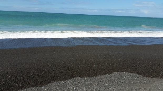 NZ Napier black stone surf beach