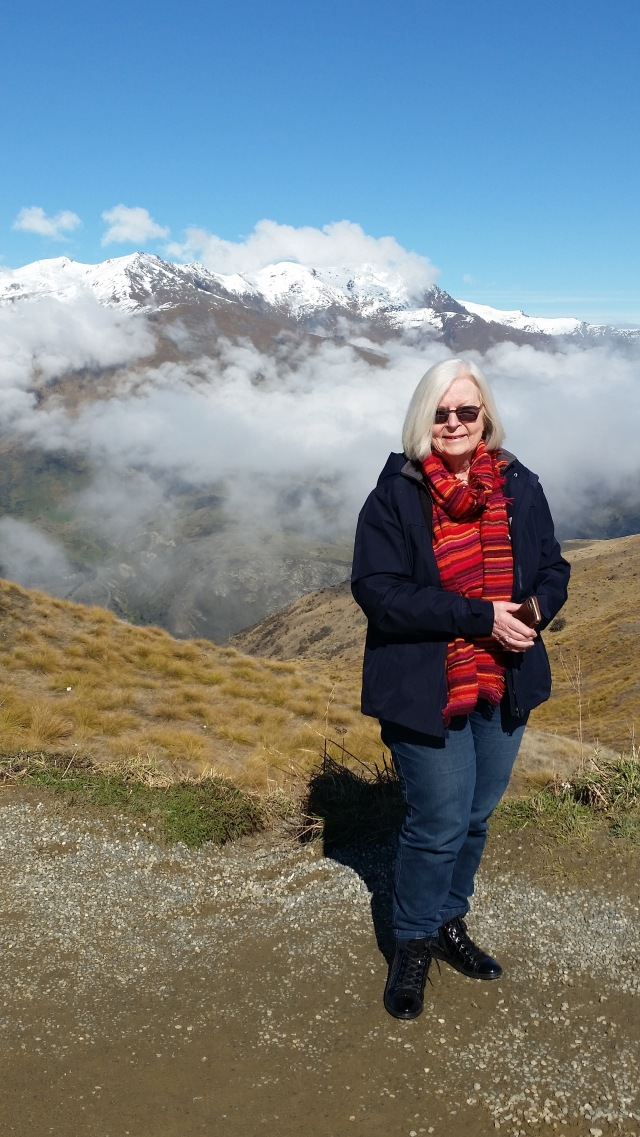 NZ view from Cardrona pass peak